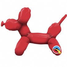 "Balloon Dog Red Foil Balloon (14"" Air-Fill) 1pc"